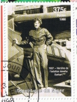 Stamps Africa - Niger -  1937  Heroïne de l´aviation  Amelia Earhart