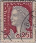 sellos de Europa - Francia -  Mariana(de Decaris)-
