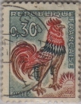 sellos de Europa - Francia -  Gallo(de Decaris)