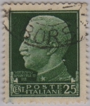 Stamps Italy -  Victor Manuel-III