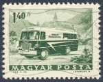 Stamps Hungary -  transporte postal
