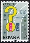 Sellos de Europa - España -  2313 Seguridad vial. Adelantamiento en curva.