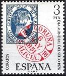 Stamps Spain -  2318 Día Mundial del sello. Fechador de La Coruña.