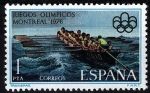 Stamps Spain -  2340 XXI JJOO en Montreal-76. Traineras.