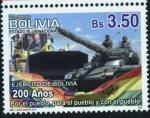 Stamps America - Bolivia -  Bicentenario del Glorioso Ejercito de Bolivia