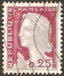 sellos de Europa - Francia -  1263 - Marianne de Decaris
