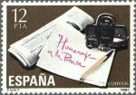 Stamps Spain -  HOMENAJE A LA PRENSA.