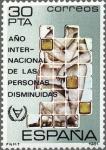 Sellos de Europa - España -  AÑO INTERNACIONAL DE LAS PERSONAS DISMINUIDAS