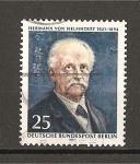 Stamps Germany -  Aniversario del nacimiento de  Hermann Von Helmholtz.