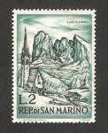 Sellos de Europa - San Marino -  montañas de sassolungo