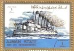 Sellos de Asia - Emiratos Árabes Unidos -  AJMAN - Barco
