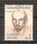 Sellos de Europa - Checoslovaquia -  110 aniversario del nacimiento de Lenin.