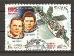 Stamps Russia -  Conquista Espacial / Saliout - Soyuz.