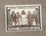 Stamps Vatican City -  Dando de comer a los hambrientos