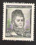 Sellos del Mundo : America : Chile : EFIGIE BERNARDO OHIGGINS RIQUELME