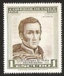 Stamps America - Chile -  SESQUICENTENARIO PRIMER GOBIERNO NACIONAL- JOSE MIGUEL CARRERA