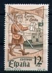 Stamps Spain -  Correo de Castilla- Correo a pie, siglo XIV