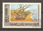 Stamps United Arab Emirates -  Ras Al Khaima./ Pinturas.