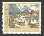 Sellos de America - Canadá -  vista de baie saint paul