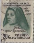 Stamps America - Paraguay -  santa Maria Mazzarello