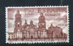 Stamps Spain -  catedral de mejico