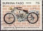 Sellos del Mundo : Africa : Burkina_Faso : Burkina Faso 1985 Scott 690 Centenario Invención de la Moto Pope preobliterado
