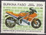 Sellos de Africa - Burkina Faso -  Burkina Faso 1985 Scott 694 Centenario Invención de la Moto Honda Matasello de favor Preobliterado