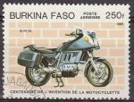 Sellos del Mundo : Africa : Burkina_Faso : Burkina Faso 1985 Scott 695 Centenario Invención de la Moto B.M.W. Matasello de favor Preobliterado