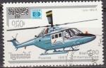Sellos de Asia - Camboya -  CAMBOYA 1987 Scott 814 Sello Helicopteros Westiand Lynx WG-13 matasellado Cambodia Cambodge