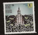 Stamps Germany -  Nosotros somos el pueblo  - Leipzig 1989