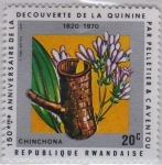 Stamps Africa - Rwanda -  150 aniversario descubrimiento de la quinina