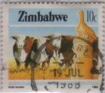 Sellos del Mundo : Africa : Zimbabwe : castle
