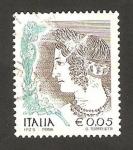 Sellos de Europa - Italia -  la mujer en el arte, la joven velca