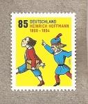 Stamps Germany -  200 Aniv. nacimiento del autor Heinrich Hoffmann