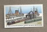 Stamps Germany -  100 Aniv. de la estación mrítima sassnitz-Trelleborg