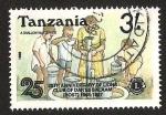 Sellos del Mundo : Africa : Tanzania : 25 TH ANNIVERSARY OF LIONS CLUB OF DARES SALAAM