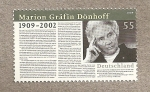 Stamps Germany -  Marion, condesa Dönhoff, periodista
