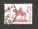 Stamps Russia -  estatua de youri dolgoruki en moscu