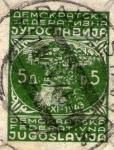 Stamps Yugoslavia -  demokratska federativna jogoslavija