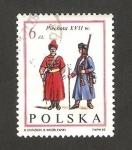 Sellos de Europa - Polonia -  tropas de juan III sobieski, infantería