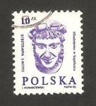 Sellos de Europa - Polonia -  cabeza esculpida del castillo de wawel