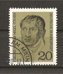 Stamps Germany -  Georg Wilhem Hegel.