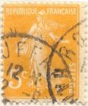 Sellos de Europa - Francia -  Republique française amarillo