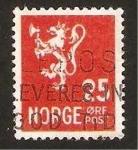 Sellos del Mundo : Europa : Noruega : león heráldico