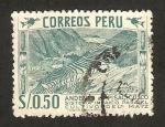 Sellos de America - Perú -  cultivo del maíz, andenes de pisac