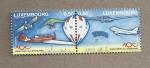 Stamps Luxembourg -  tipos de aviones y globos