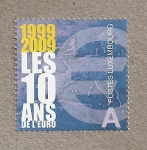 Stamps Luxembourg -  Los 10 años del €