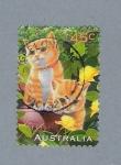 Stamps Australia -  Gatos
