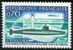Stamps : Europe : France :  Propulsión nuclear naval