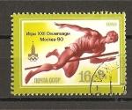 Sellos de Europa - Rusia -  Juegos Olimpicos de Moscu (VIII)